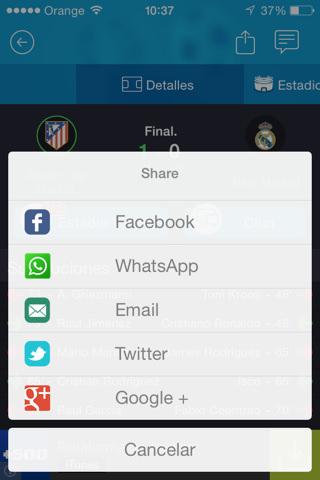 Enviar resultados por whatsapp de fútbol