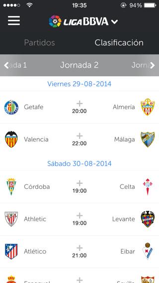 Partidos de Liga de Fútbol Profesional