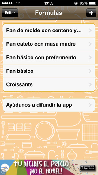 Cómo hacer pan casero con iPhone