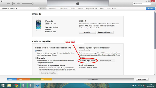 Instalar iOS 8 1
