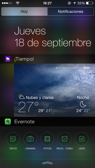 Widgets iOS 8 1