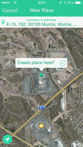 notas por ubicación para iOS