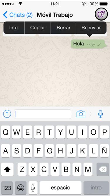 cuando se ha leído un mensaje en Whatsapp