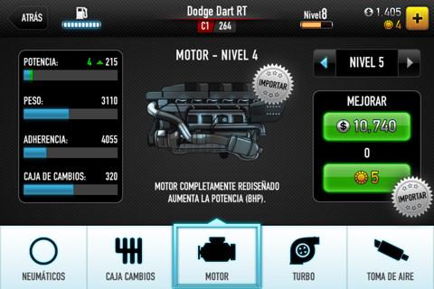 CSR Racing, juego de coches para iPhone y iPad