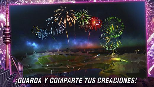 APP Fireworks Simulator para espectáculos de fuegos artificiales