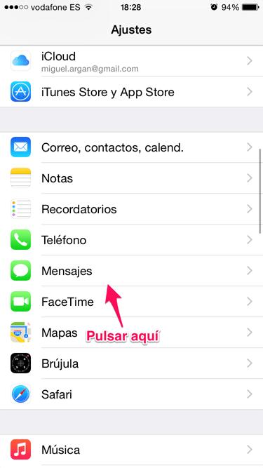 mensaje en iMessage 1