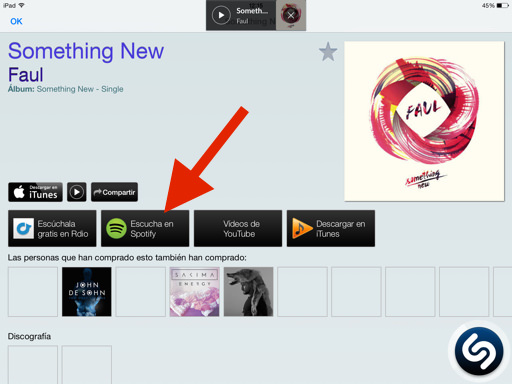 Cómo escuchar canciones enteras en Shazam
