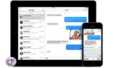 mensajes en iPhone