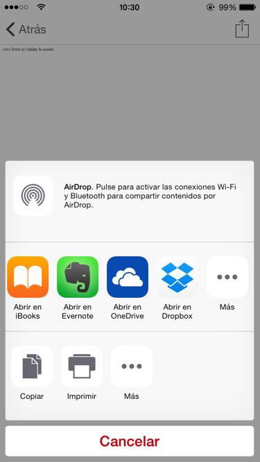 Nueva extensión de Dropbox
