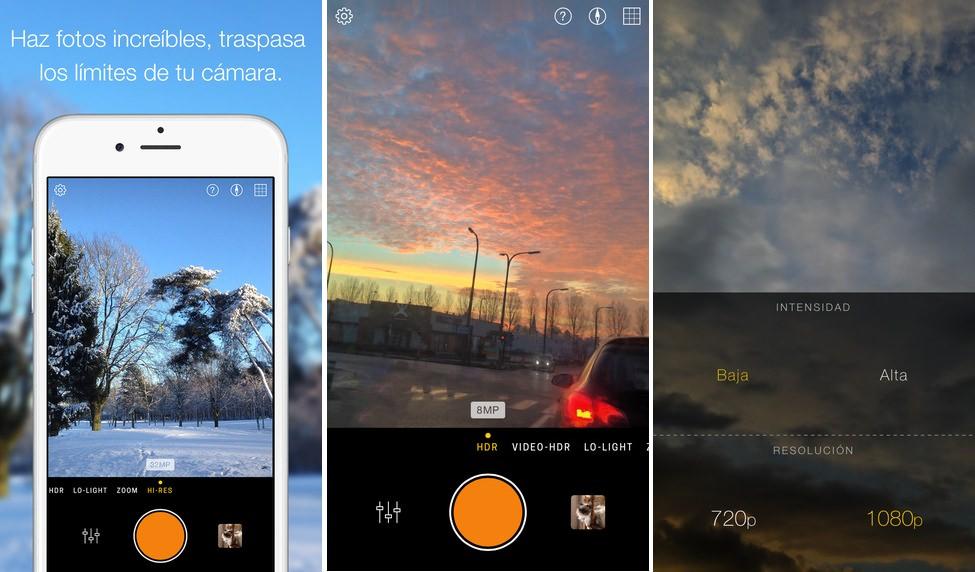 App de fotografía Hydra