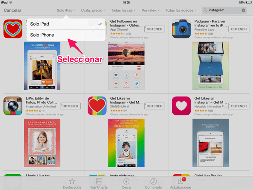 aplicaciones de iPhone en iPad 2