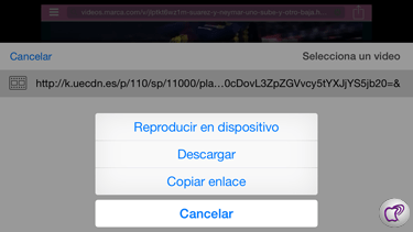 vídeo desde Safari
