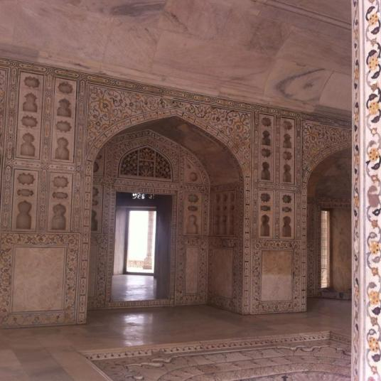 The Red Fort from inside