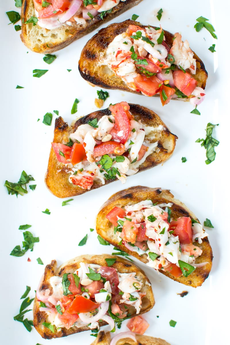 lobster roll bruschetta   Appetites Anonymous