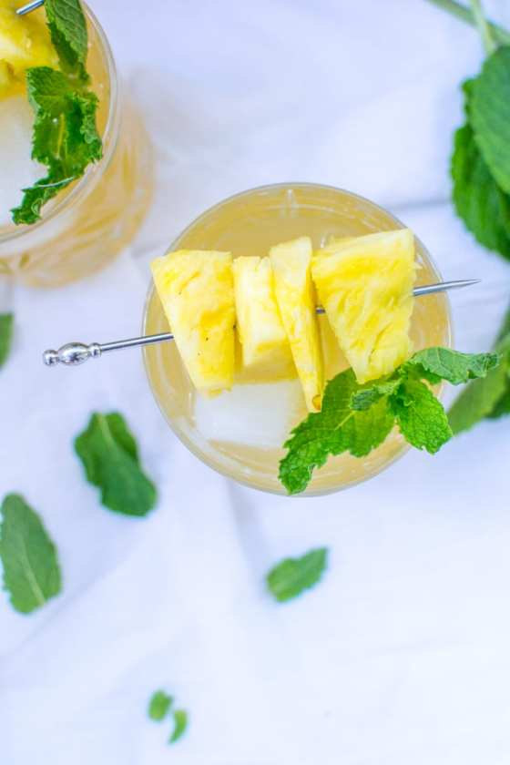 pineapple and mint rum punch | Appetites Anonymous