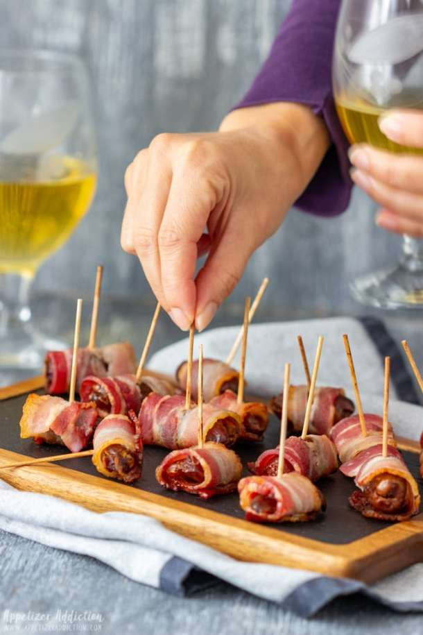 Bacon Wrapped Dates Party Appetizers