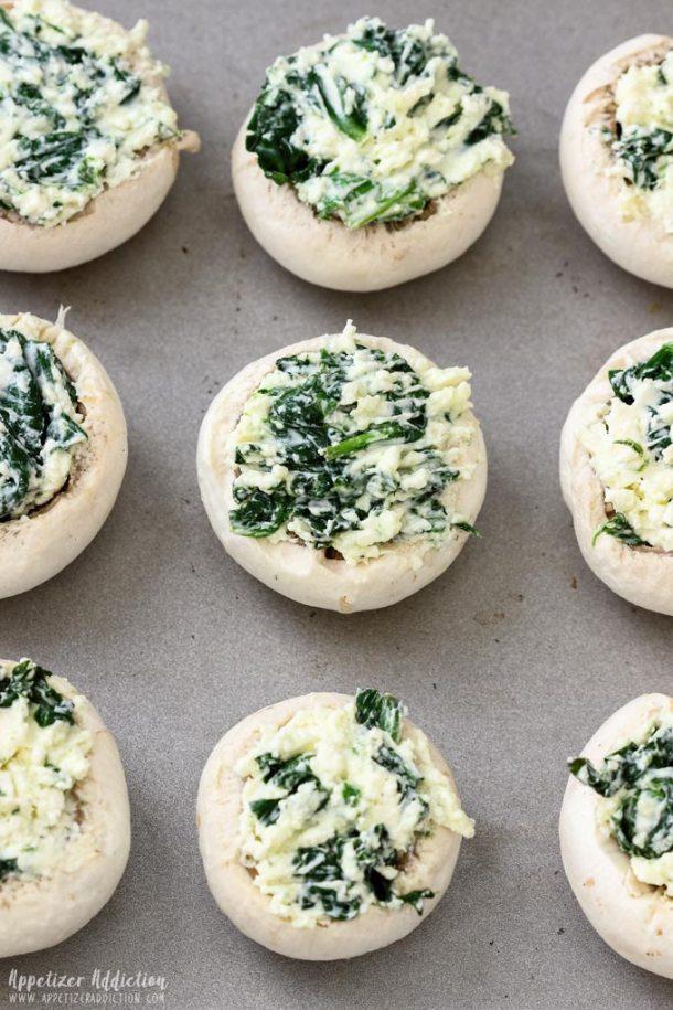 How to make Spinach Feta Stuffed Mushrooms Step 3