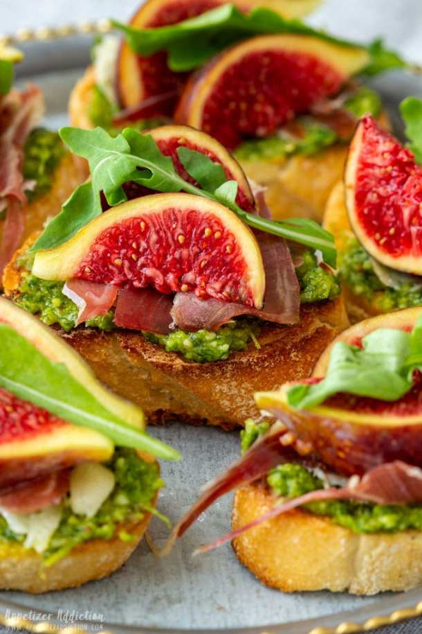Prosciutto Fig Crostini Appetizers