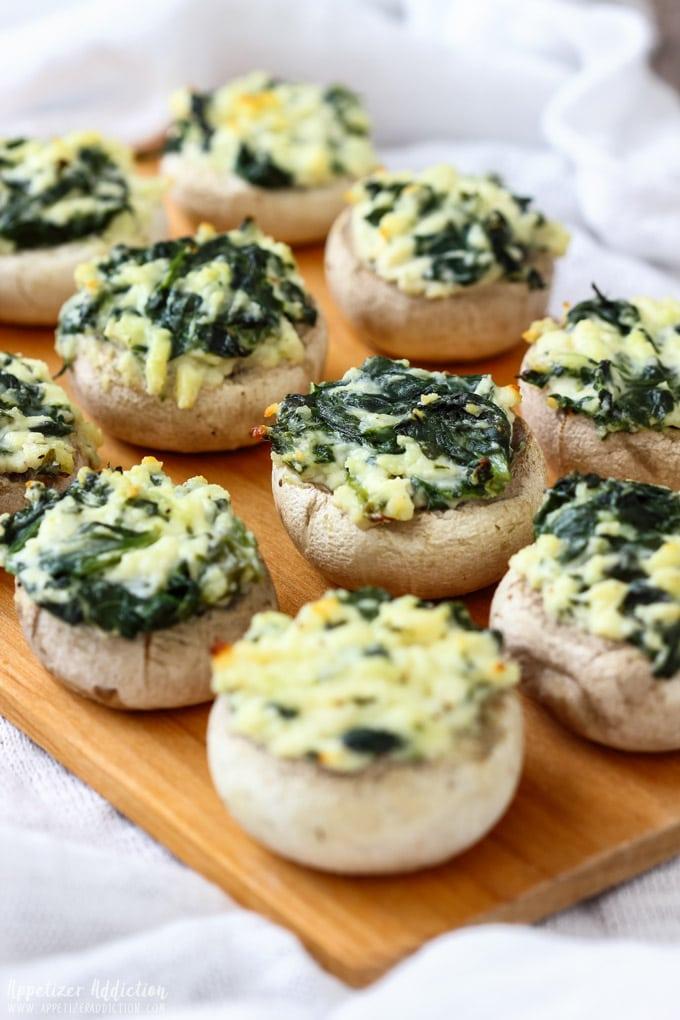 Spinach Feta Stuffed Mushrooms