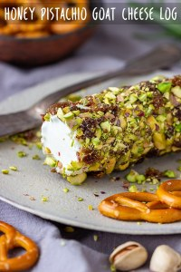 Homemade Honey Pistachio Goat Cheese Log Recipe