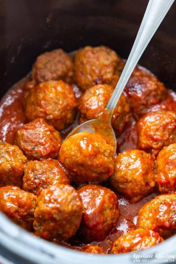 Crock Pot Sweet and Spicy Meatballs