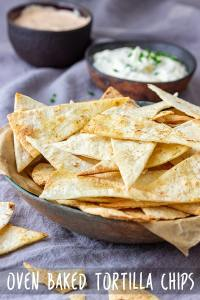 Oven Baked Tortilla Chips Recipe