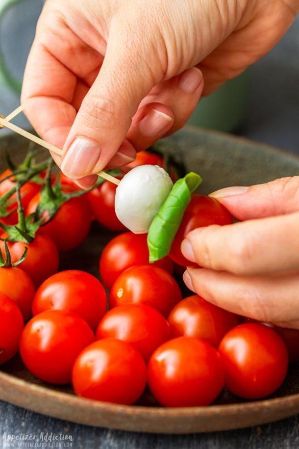 How to make Caprese Salad Bites Step 1