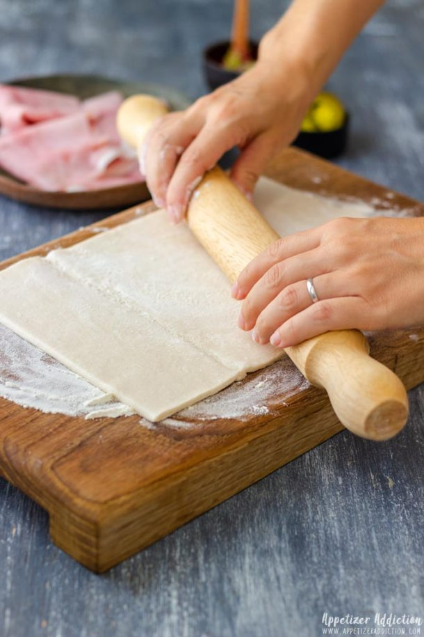 How to make Puff Pastry Air Fryer Pinwheels Step 1