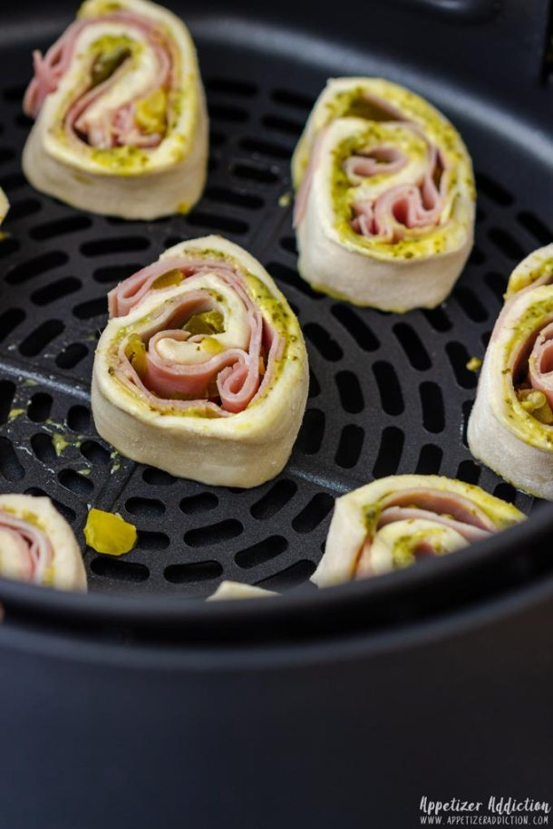 How to make Puff Pastry Air Fryer Pinwheels Step 5