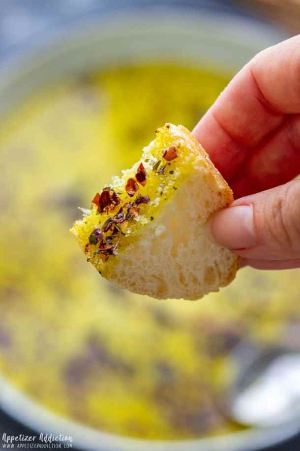 Dipping Bread in Olive Oil