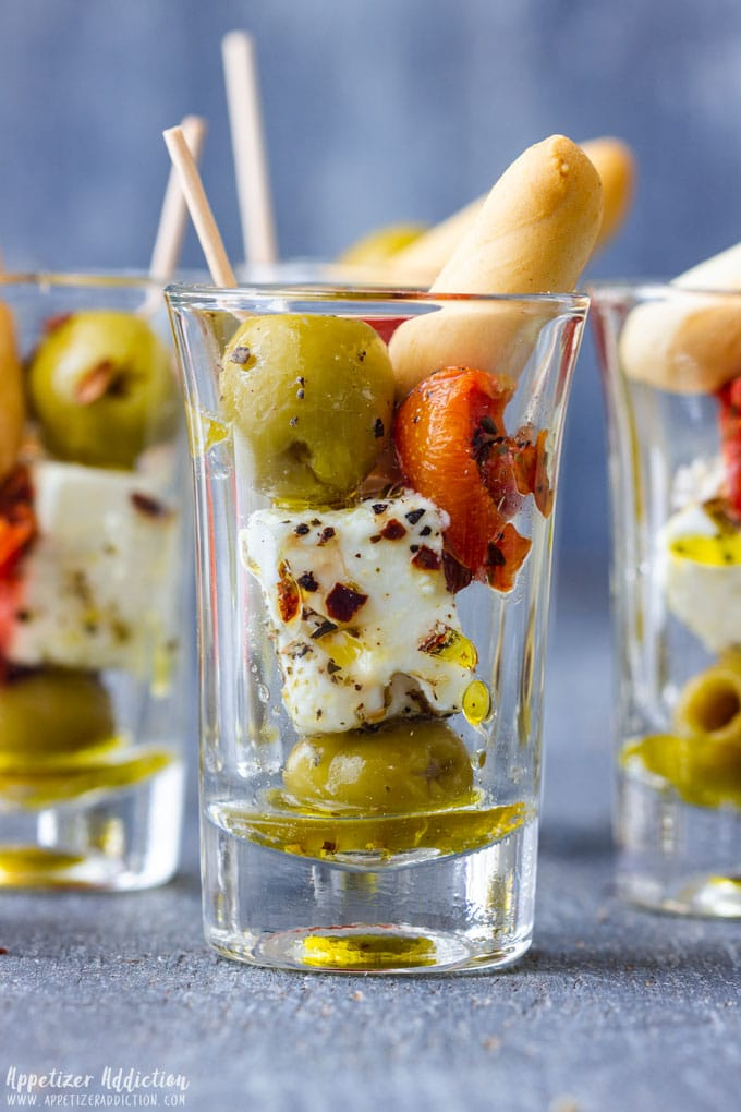 Olive and Feta Shooters