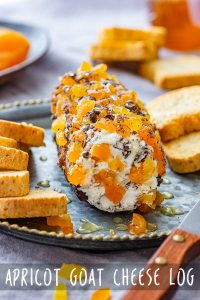 Apricot Goat Cheese Log Appetizer