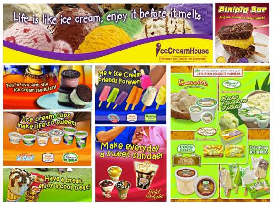 ice cream house golden delight products