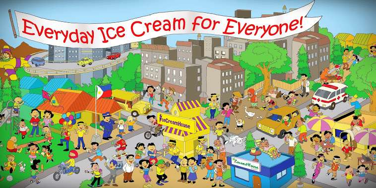 Ice Cream House Mural