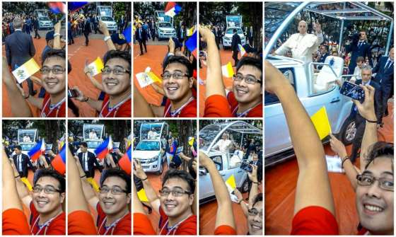 Papal Visit in UST Selfie Collage