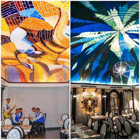 Vikings Jazz Mall's Function Rooms with Colorful Ceiling