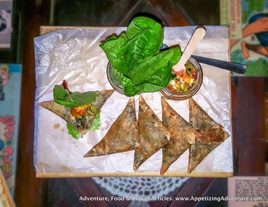 Tinapa At Kesong Puti Lumpia With Mango Salsa Lettuce Wrap Php230