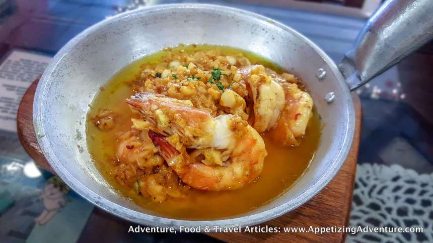 Butter and Garlic Shrimps with Creamy Aligue Sauce Php340