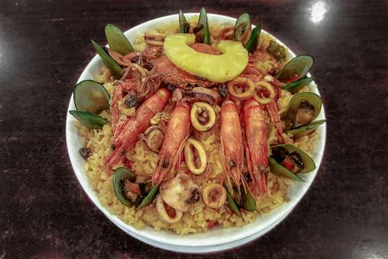 Barrio Fiesta Rice Php499 (serves 3-4 persons) Native paella style rice