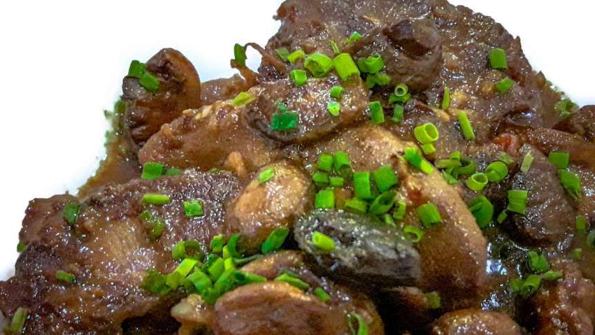 Lengua With Mushrooms Salpicao Php550