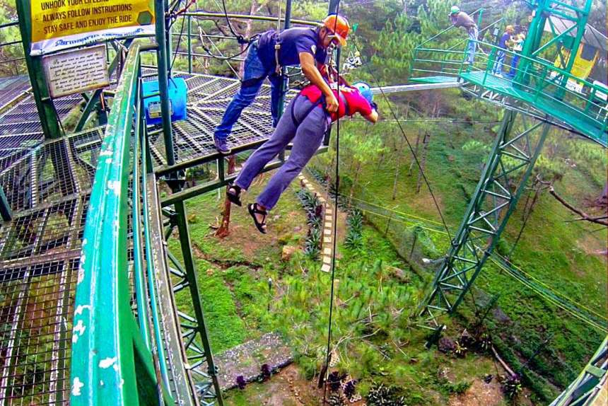 Tree Drop, Tree Top Adventure (Baguio)