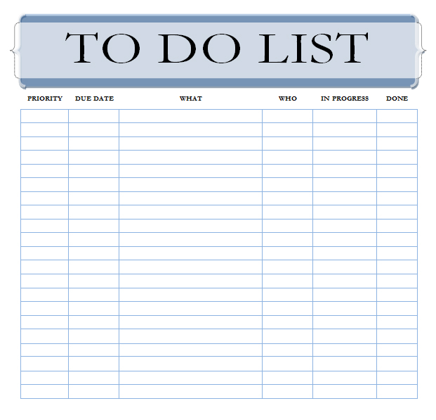 microsoft word template to do list