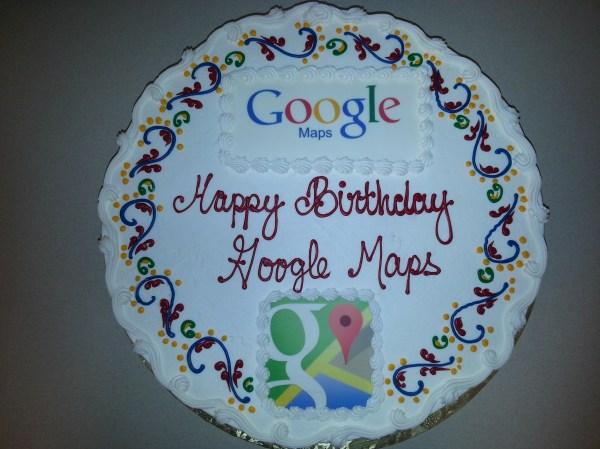 Google Happy Birthday Cake