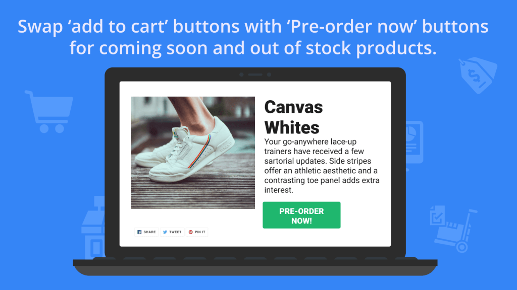 pre-order sale marketing strategy button