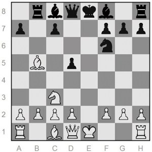White is a pawn ahead in this opening