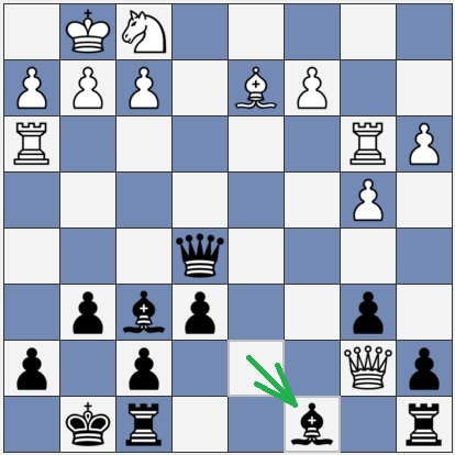 Black blundered with Bc8