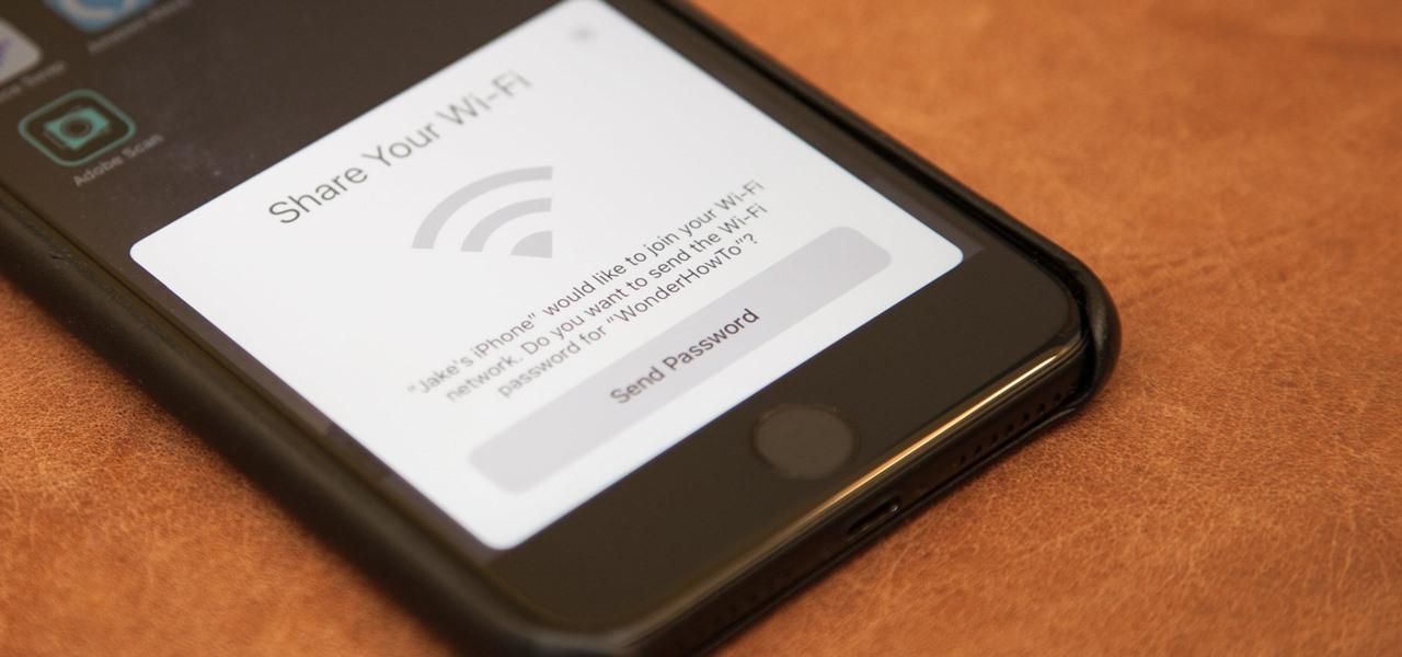 مشاركة كلمات سر شبكات Wi-Fi