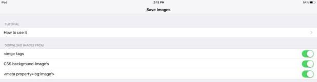 حفظ جميع الصور في صفحة ويب على متصفح Safari بجهاز iPad