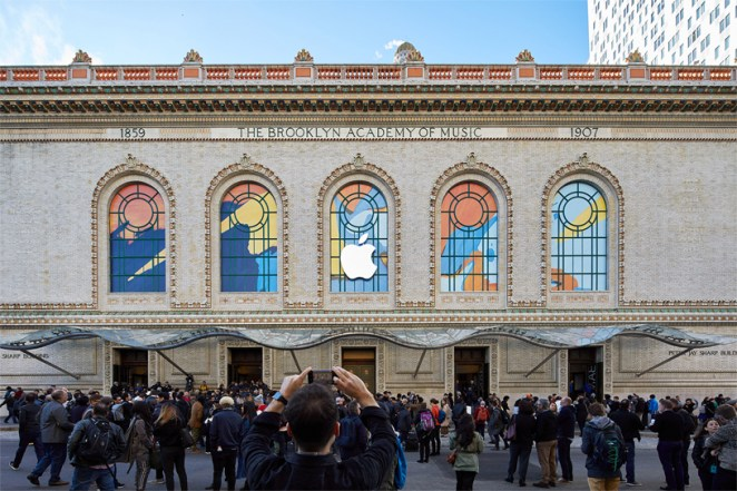 Gli ospiti del keynote Apple alla Brooklyn Academy of Music.