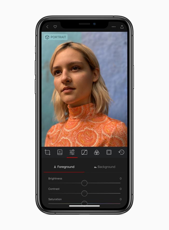 The Darkroom app displayed on iPhone 11 Pro.